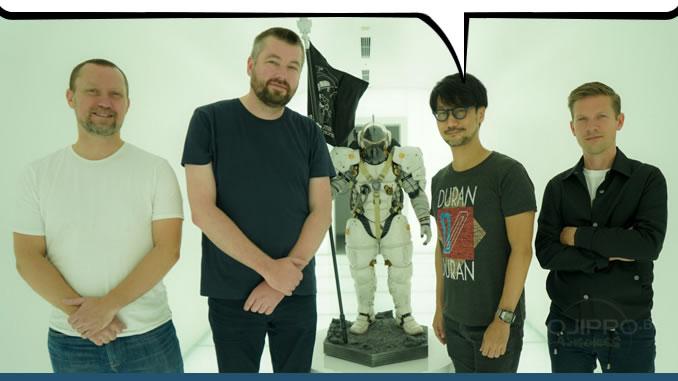 Mads Wibroe, Arnt Jensen, Hideo Kojima et Morten Bramsen, le 22 septembre 2017
