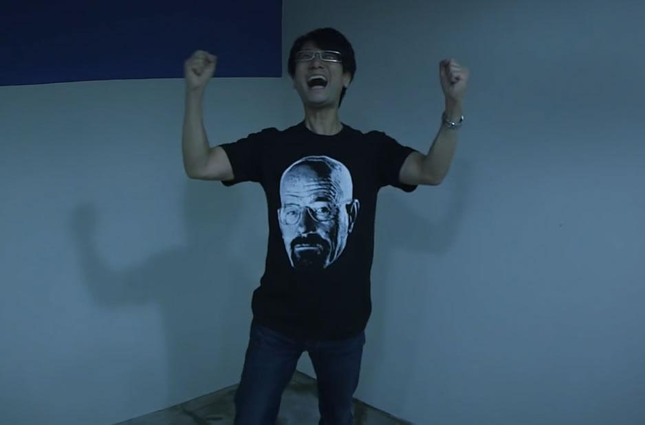 Hideo Kojima heureux