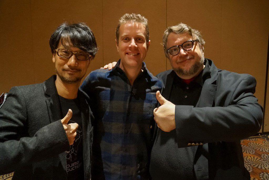 Hideo Kojima, Geoff Keighley et Guillermo del Toro