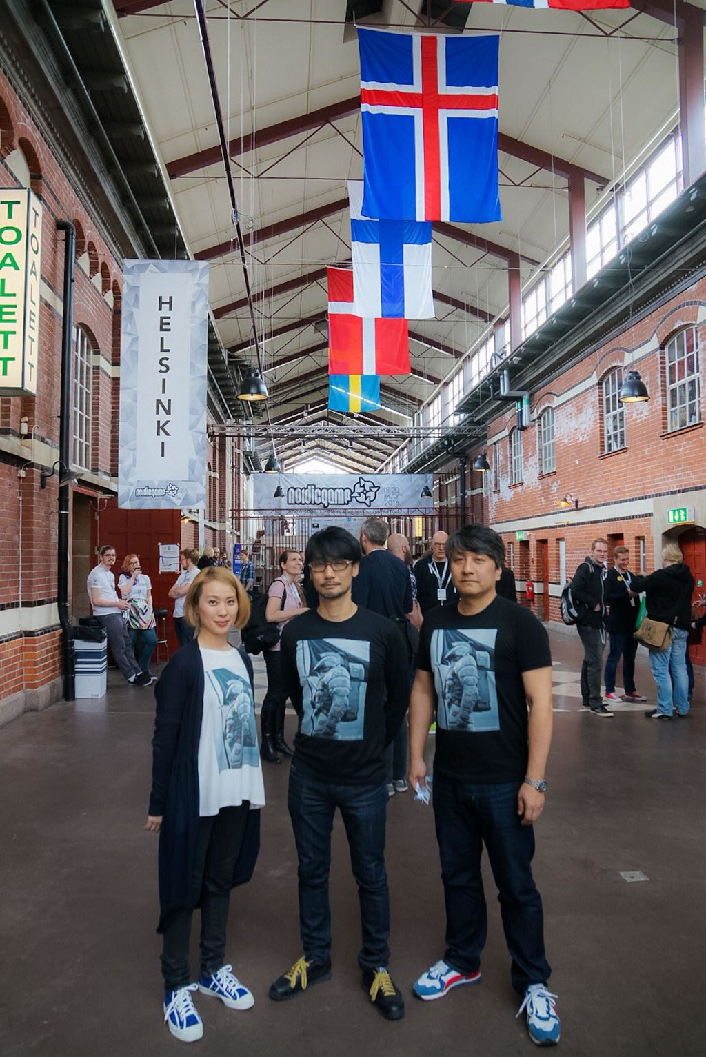 Ayako Terashima, Hideo Kojima et Ken Imaizumi au Nordic Game 2016 (18/05/2016)