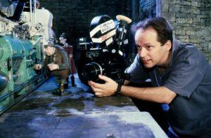 Nick Park sur le tournage de Chicken Run