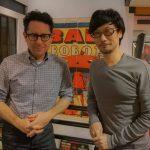 « De retour à Los Angeles, rencontre avec J.J. [Abrams] pour l'informer de mon nouveau studio. » - Hideo Kojima