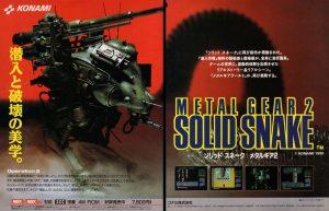 Publicité japonaise de Metal Gear 2 : Solid Snake - 1990