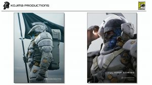 Affiches de Ludens, la mascotte de Kojima Productions