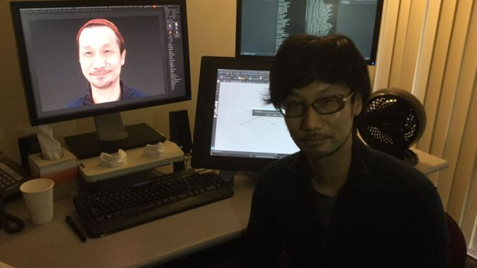 Capture faciale de Hideo Kojima au VASG [Visual Arts Service Group de Sony], le 19 janvier 2016