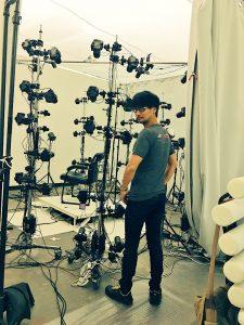 Hideo Kojima en séance de scanning 3D, le 10 septembre 2016