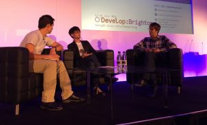 Ken Mendoza, Hideo Kojima et Mark Cerny - Develop : Brighton 2016