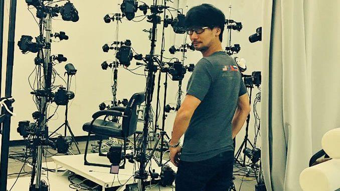 Hideo Kojima en studio 3D scaning