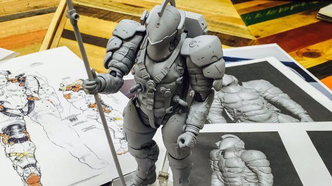 Figurine Figma de Ludens, la mascotte de Kojima Productions