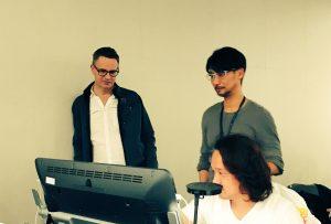 Nicolas Winding Refn, Hideo Kojima et Yoji Shinkawa, le 14 novembre 2016