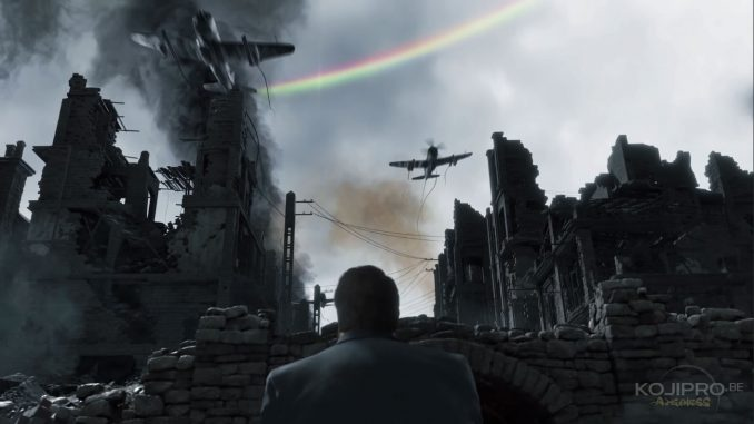 L'arc-en-ciel est courbé dans le mauvais sens.