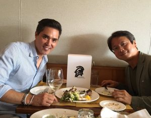 Anthony Borquez (CEO de Grab Games) et Shinji Hirano, le 15 juin 2016