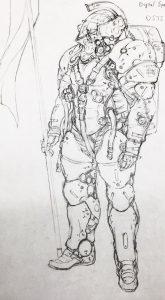 Artwork de Yoji Shinkawa pour la création de Ludens