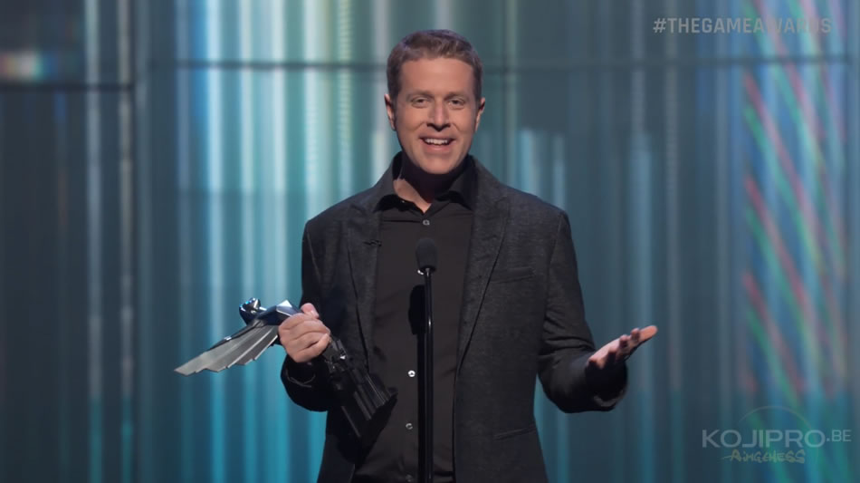 Geoff Keighley aux Game Awards 2016 (1er décembre 2016)