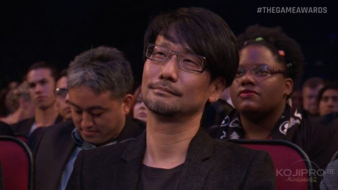Hideo Kojima aux Game Awards 2016 (1er décembre 2016)