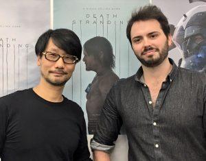 Hideo Kojima et Joshua Boggs, le 25 octobre 2016