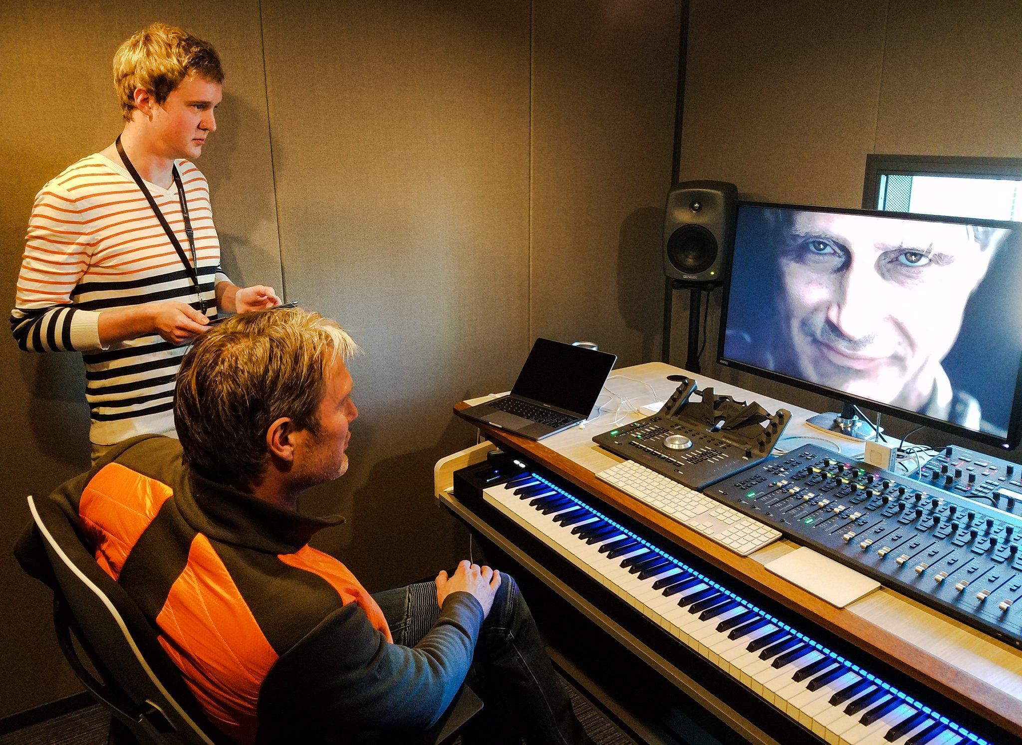Ludvig Forssell et Mads Mikkelsen chez Kojima Productions, le 25 janvier 2017
