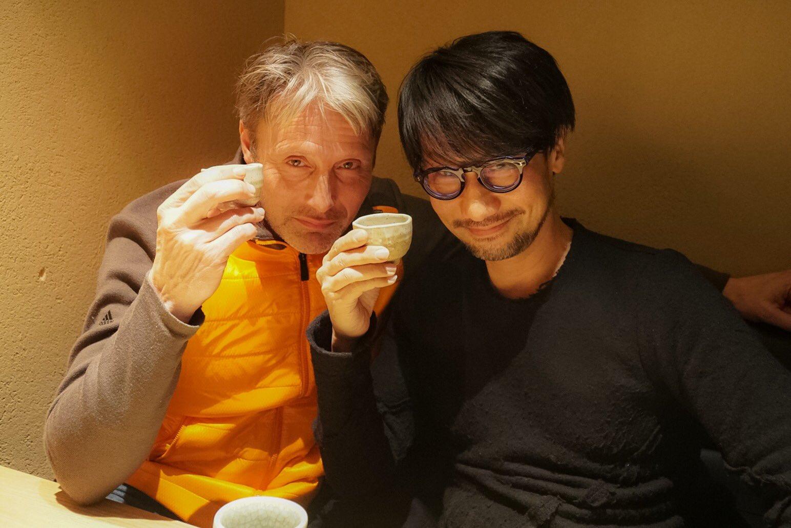 Mads Mikkelsen et Hideo Kojima, le 25 janvier 2017