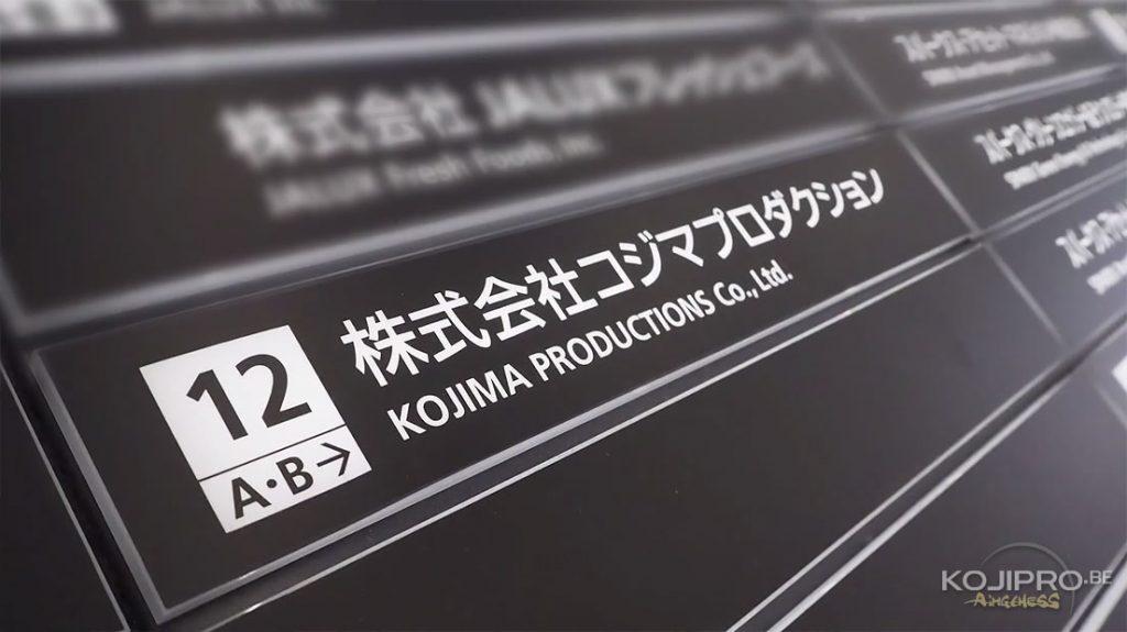Les bureaux de Kojima Productions dévoilés en vidéo