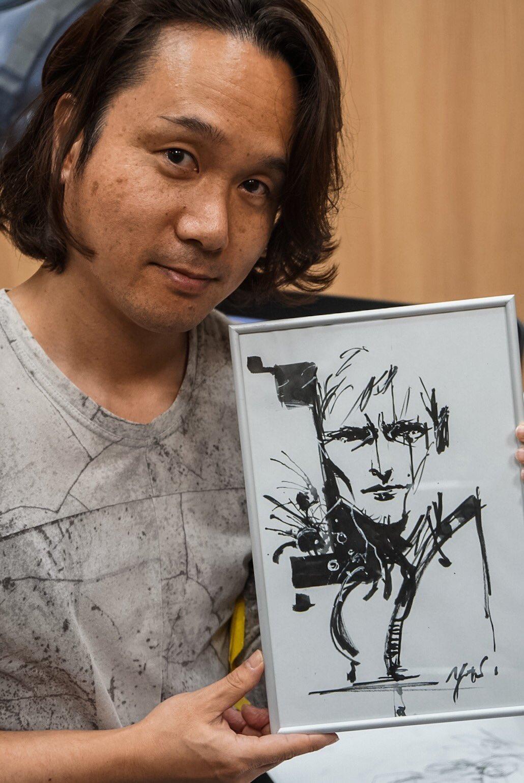 Yoji Shinkawa et son dessin de Mads Mikkelsen, le 25 janvier 2017