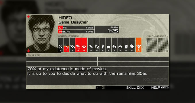 Hideo Kojima dans Metal Gear Solid : Peace Walker