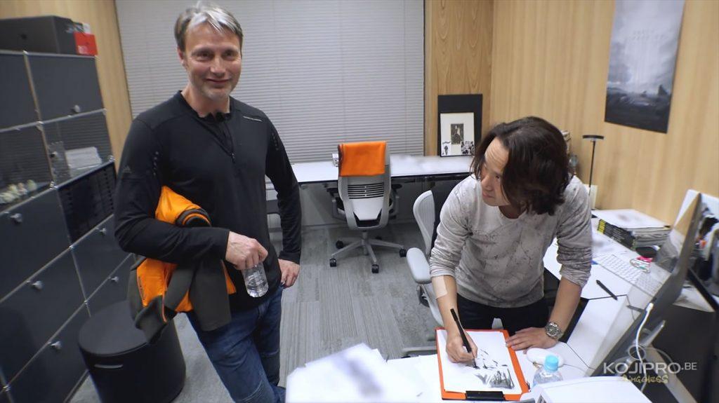 Mads Mikkelsen et Yoji Shinkawa, dans le bureau de ce dernier - Janvier 2017