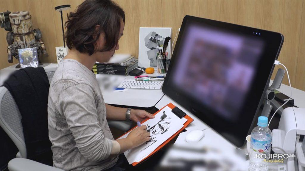Yoji Shinkawa, dans son bureau - Janvier 2017
