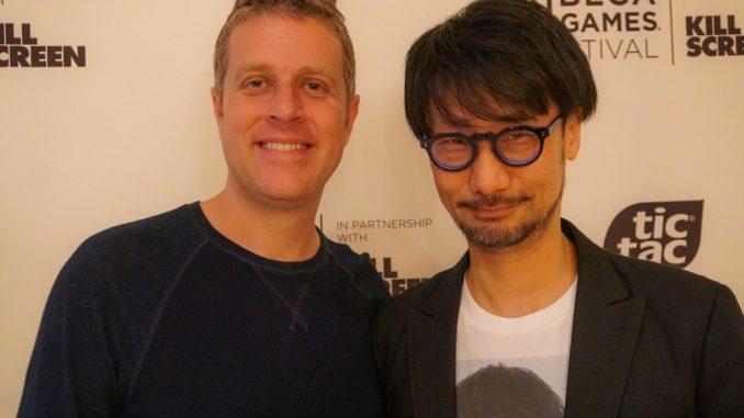 Geoff Keighley et Hideo Kojima à New York au Tribeca Games Festival, le 29 avril 2017