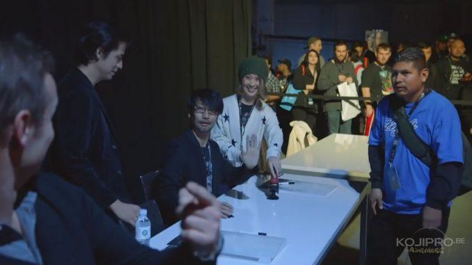 Hermen Hulst, Ken Mendoza, Hideo Kojima et Ayako Terashima - PlayStation Experience, le 3 décembre 2016