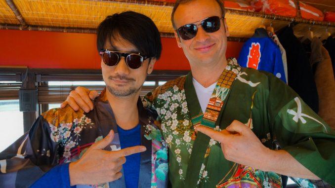 Hideo Kojima et Hermen Hulst en bateau de plaisance, le 30 mars 2017