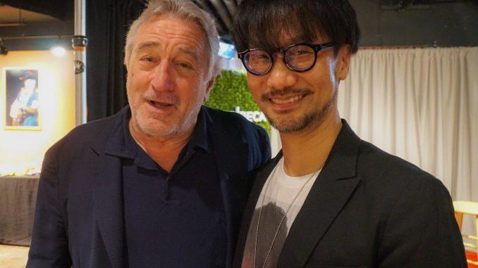 Robert De Niro et Hideo Kojima au Tribeca Film Festival, le 29 avril 2017