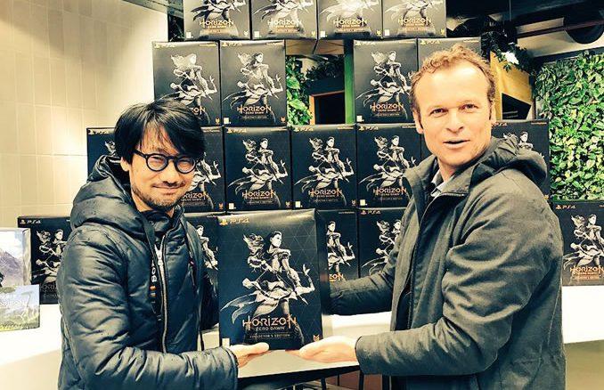 Hideo Kojima et Hermen Hulst (le 6 mars 2017)