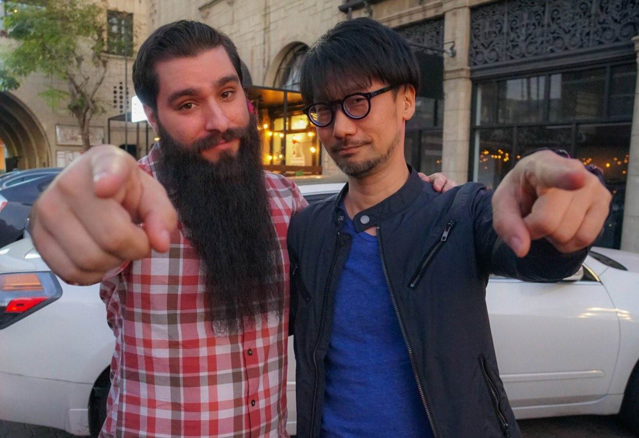 Jordan Vogt-Roberts et Hideo Kojima, le 1er mai 2017