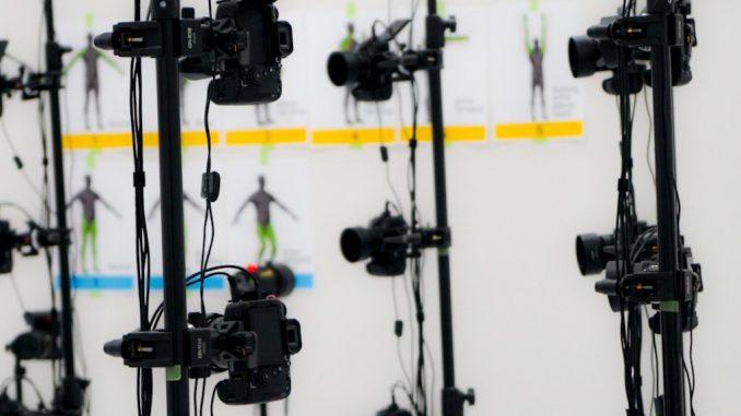 Kojima Productions en séance de scanning 3D, le 19 mai 2017