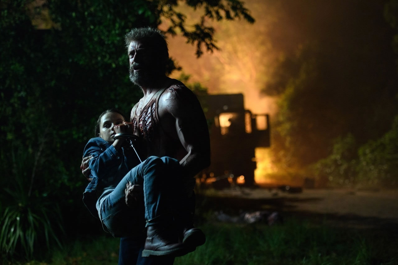 Hugh Jackman et Dafne Keen dans Logan (2017) de James Mangold