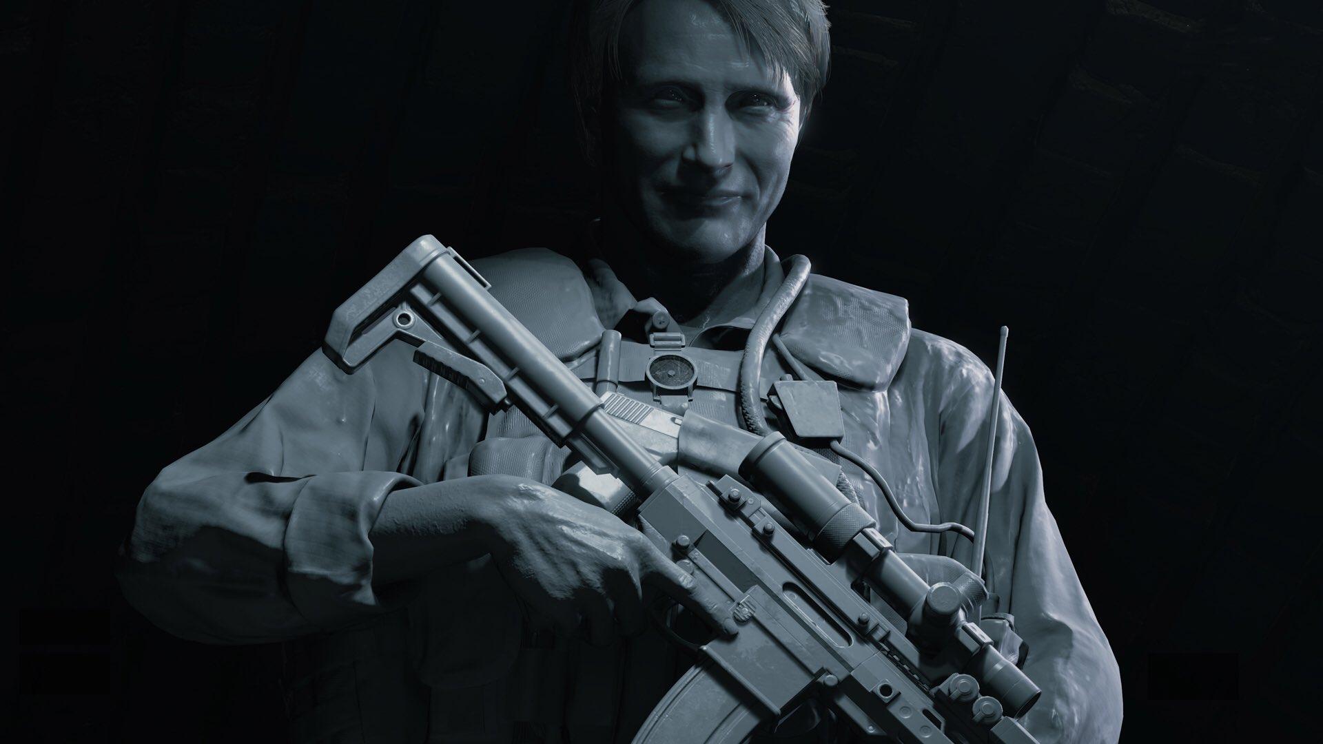 Le modèle 3D de Mads Mikkelsen dans Death Stranding, avec le moteur Decima