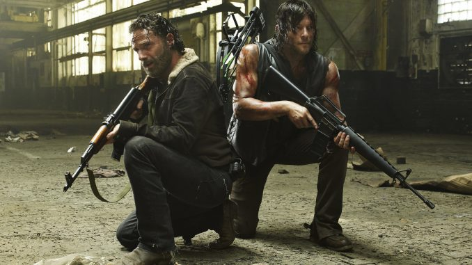 Andrew Lincoln et Norman Reedus dans The Walking Dead