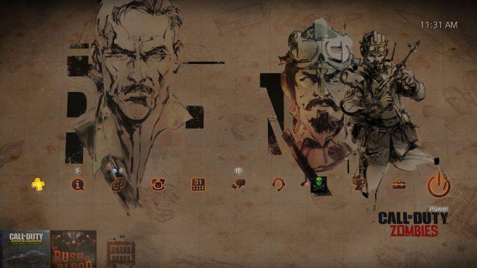 Thème dynamique sur PlayStation 4 avec des arworks inédits de Yoji Shinkawa pour le DLC « Zombies Chronicles » de Call of Duty Black Ops III