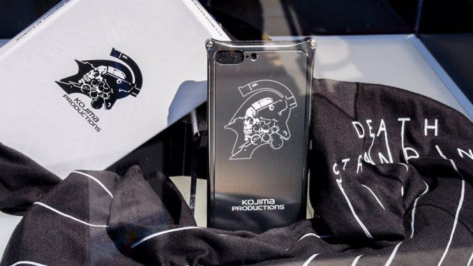 Coques de téléphone Kojima Productions en vente à l'E3 2017, le 12 juin 2017