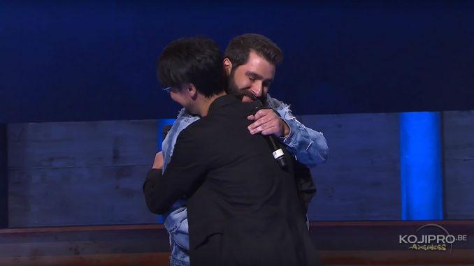Jordan Vogt-Roberts et Hideo Kojima à l'E3 Coliseum, le 14 juin 2017
