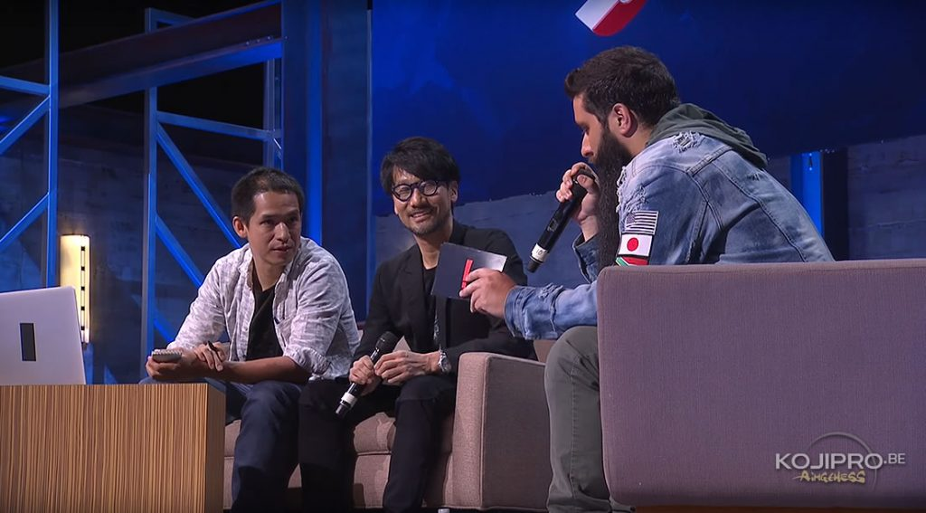 Master class de Hideo Kojima avec Jordan Vogt-Roberts à l'E3 Coliseum, le 14 juin 2017