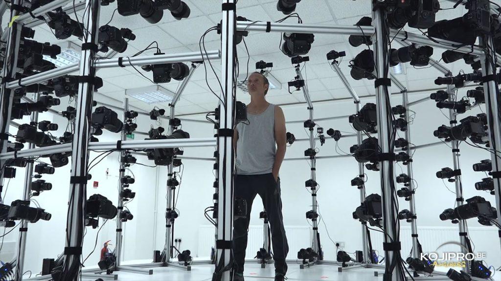 Mads Mikkelsen en séance de scanning 3D pour Death Stranding, le 21 août 2016