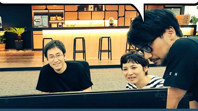 Junji Ito, Ayako Ishiguro et Hideo Kojima chez KojiPro, le 7 août 2017