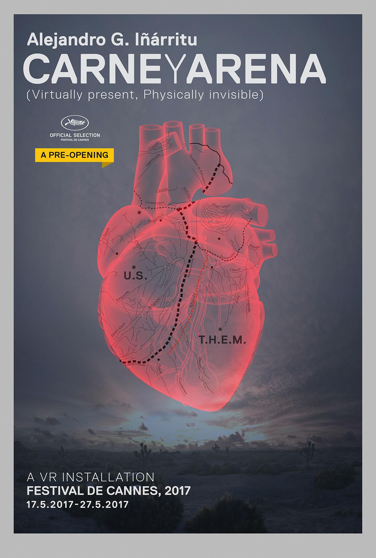 Affiche de Carne y Arena, réalisé par Alejandro González Iñárritu (2017)