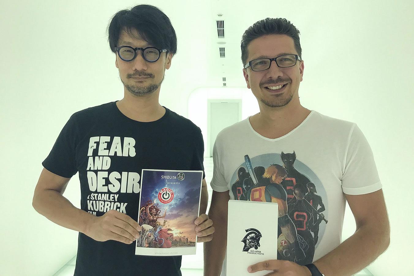 Hideo Kojima et Cédric Biscay, le 28 juillet 2017