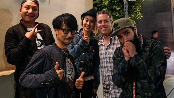 Ken Imaizumi, Hideo Kojima, Ayako Terashima, Geoff Keighley et Jordan Vogt-Roberts, le 1er octobre 2017