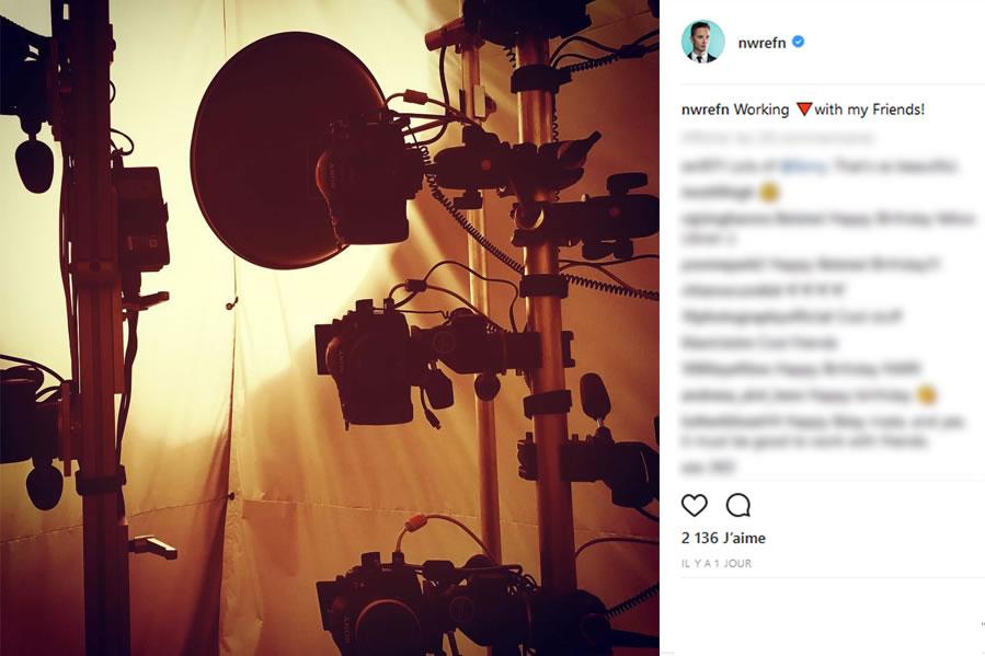 Nicolas Winding Refn : « en train de travailler avec mes amis » , le 1er octobre 2017
