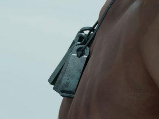 Le collier de Norman Reedus dans Death Stranding (Juin 2016)