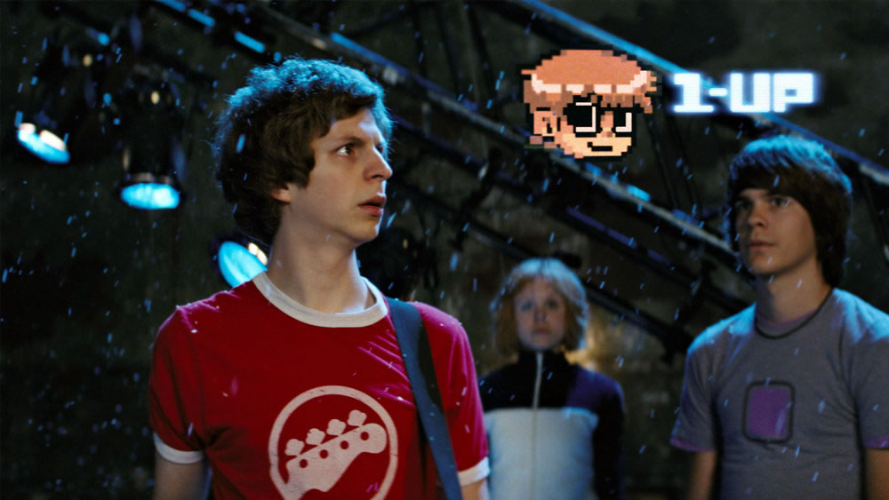 Michael Cera, Alison Pill et Johnny Simmons dans Scott Pilgrim vs. the World (2010)