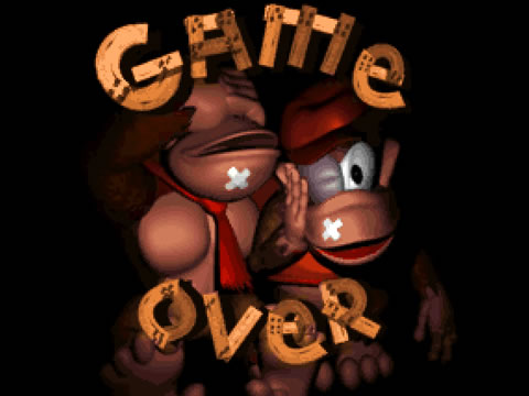 Le « game over » de Donkey Kong Country (1994)